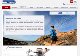 Blue Fitness Launch Website with a Guarantee for Clubs
