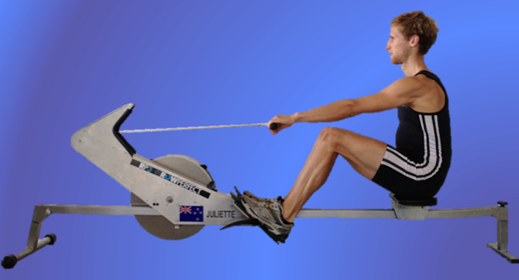 External Electrical Stimulation Enables Paraplegic to Row Using Legs